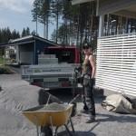 viherrakentamista ja kivitöiden tekoa